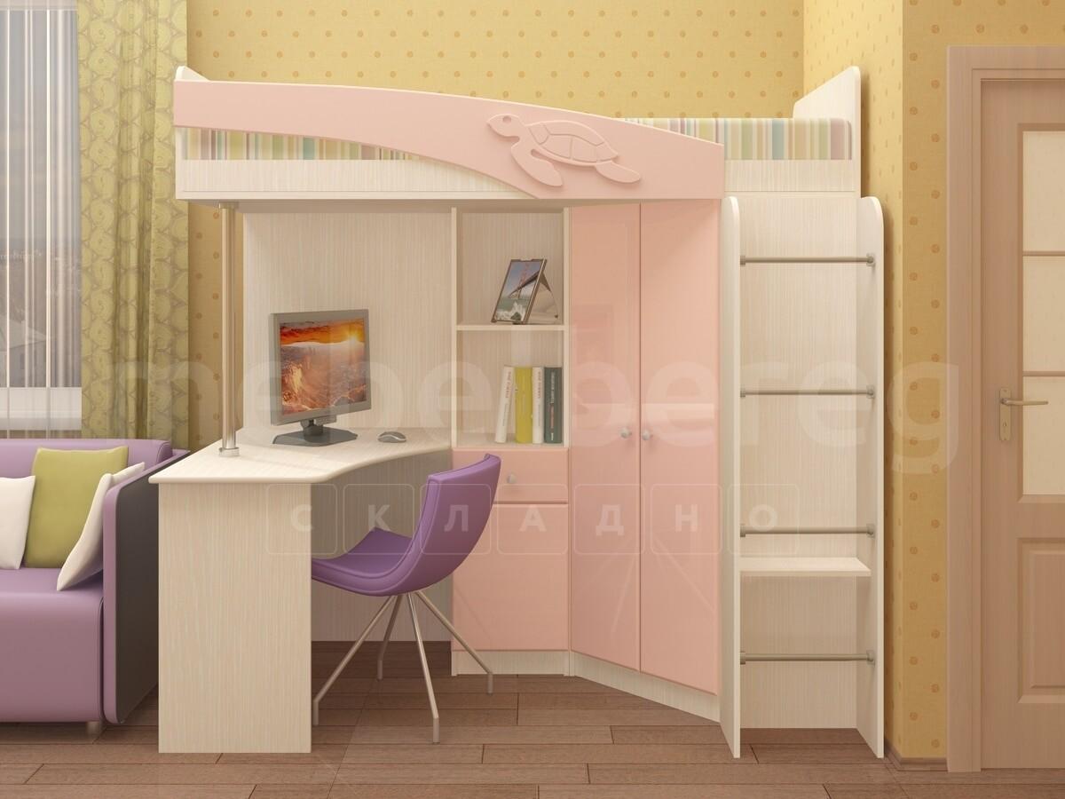 Кровать чердак Бемби с письменным столом