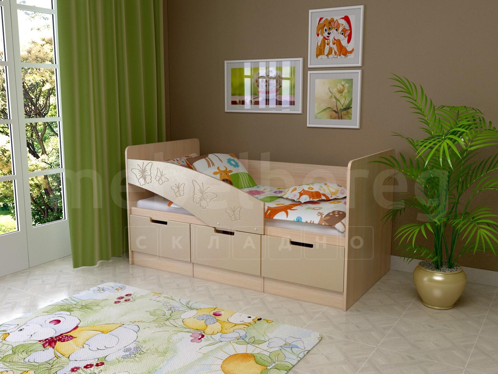 Детская кровать Бемби-8 Бабочки