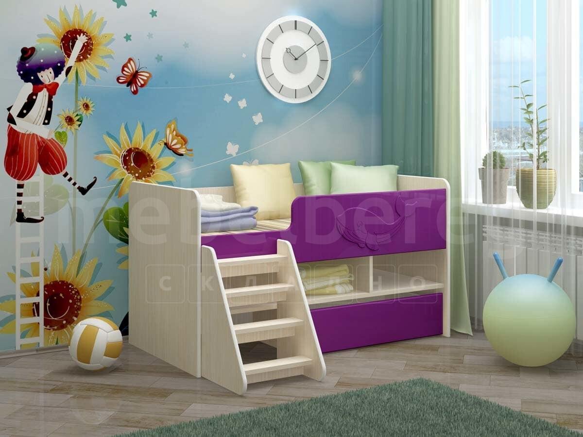 Детская кровать Юниор-3 МДФ
