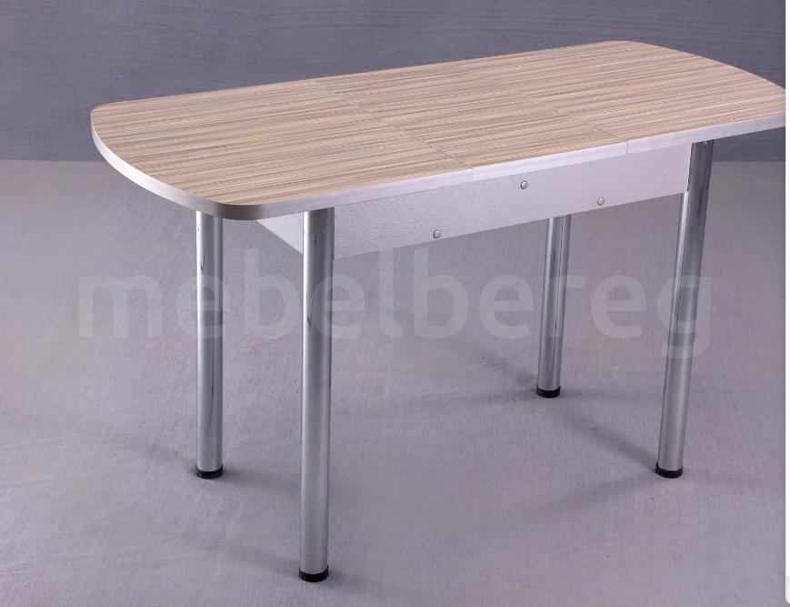 Стол обеденный раздвижной на хромированных ножках 150х70 Тростник