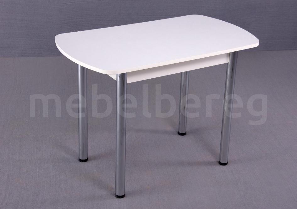 Стол обеденный раздвижной на хромированных ножках 150х70 Белый узор