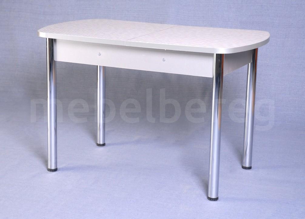 Стол обеденный раздвижной на хромированных ножках 150х70 Сахара